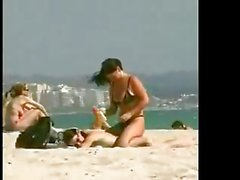 Lesbians on Public Beach BVR