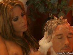 Exotic Golden Blonde Masseusse