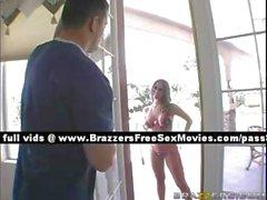 Sweet blonde girl wants to bathe in the neighbors pool