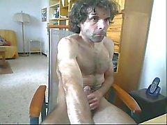 Viscid cum after cock jerking