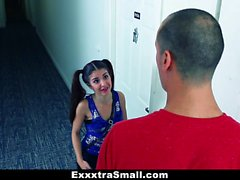 ExxxtraSmall - Pigtailed Teen Gets Tight Pussy Stretched