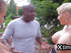 Mr Big black dick and hot blond chick