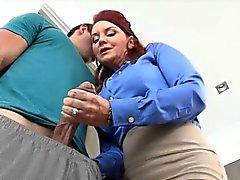 De cutie bebê Janete de pedreiro foder um galo enorme