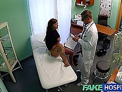FakeHospital Teen model cums for tattoo removal doctor enjoys himself in her tight pussy