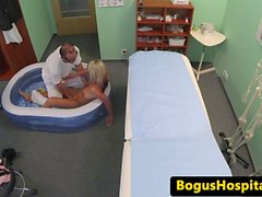 European amateur sucking doctor before sex