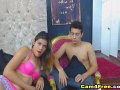 Naughty Hot Couple Wild Fucking on Cam