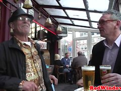 Dutch prostitute cumswapping with oldman