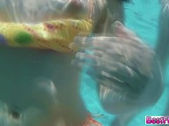 cazos piscina splash follan duro y semen