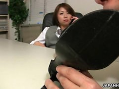 Asian office lady tsubaki getting Galina from 1fuckdatecom