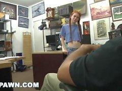 XXX pawn - ruiva jovem grávida dolly little tries para peão dela caiaque