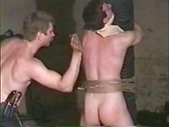 Dungeon spanking Master and Slave