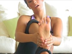 Eva Lovia Licks her own Feet