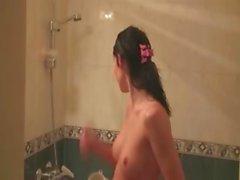Teen girlfriends from italia get wet