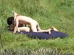 Couple fucking within the bush