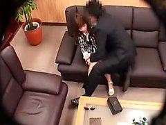 Sweet Oriental girl exposes her lovely tits and gives a gre