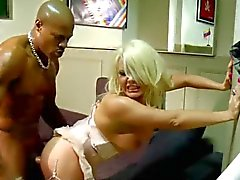 British slut Tiffany stockings heels anal facial BBC