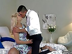 Erotic fucking and pussy creampie