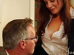 JOYBEAR Sexy Secretary Samantha Bentley rewarded b