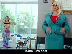 BadMILFS - Hot Stepmom Shares Cock With Busty Daughter