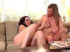 Big Tits Lesbians playing