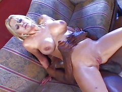 Blond babe yearns for black cock