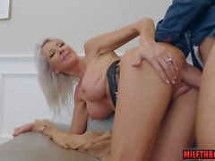 Big tits milf squirt with facial
