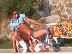 Natashas poolside fun