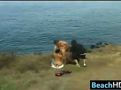 People Having Sex Near The Beach