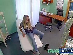 FakeHospital tonto loirinha tem um Creampie
