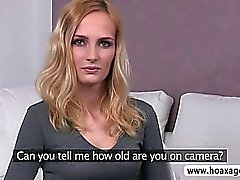 Skinny blonde euro hottie Jenny fucked and facialed during