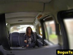Arselicking british taxi babe fucked rough