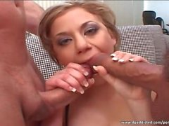 DP threesome with amazing whore
