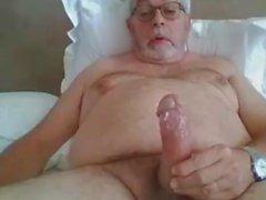 Morfar stroke på webbkamera