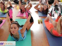 FitnessRooms Yoga girls get creampied
