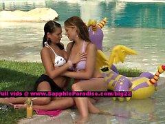 Isabella and Jaquelin lesbo teen girls nippling