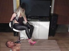 handjob with schoes high heels