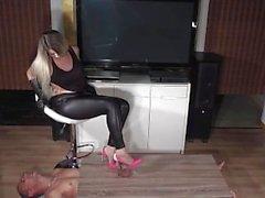 Masturbación con el Schoes zapatos de tacón