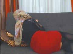 Hijab Strumpfhosen Fersen cam Schlampe