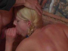 Pigtail Blonde DP
