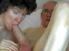 Älteres Paar - Opa großen, fetten Schwanz