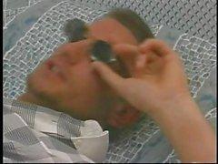 British MILF Kirstyn Halborg in a MMF threesome