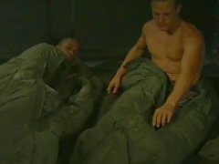 Hunky army dudes sucking dick and toes