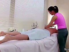 Client Seduce Teen Masseuse to Fuck for Extra Money