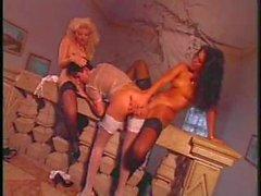 Classic luxury ladies in the castle of lust