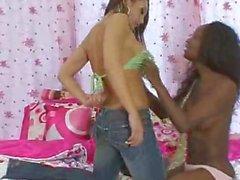 ebony girl punished with strapon