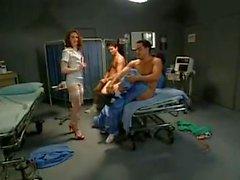 Foursome with a nurse