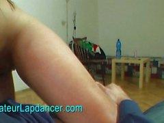 Wild amateur Svitlana lapdance for horny guy