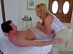 Big Ass masseuse Krissy Lynn gets impaled on cock