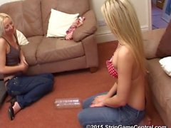 Abbi & Tracey play Strip Spin-the-Bottle