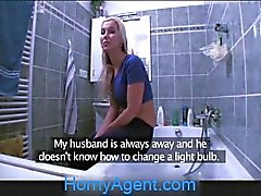 HornyAgent Fit Young Babe needs a plumber